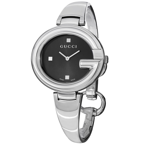 8d627784b Shop Gucci Women's YA134301 'Guccisima' Black Dial Stainless Steel ...