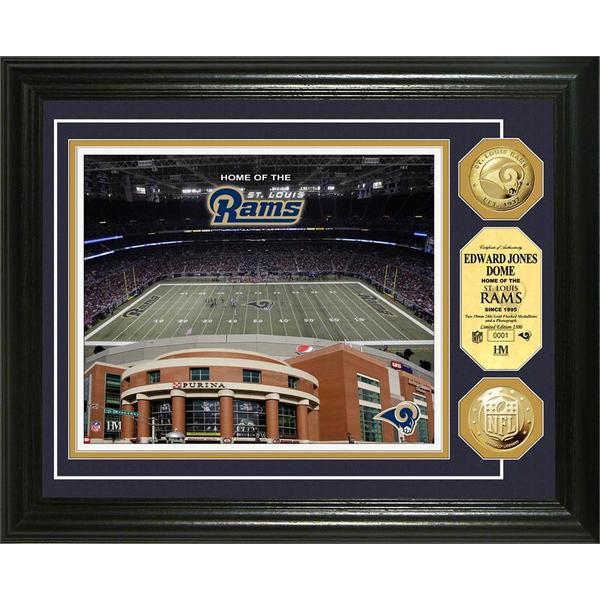 St. Louis Rams Edward Jones Dome Gold Coin Photo