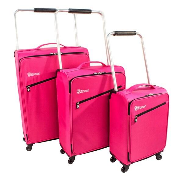 2ab298219 Shop Heys USA Fuchsia ZFrame 3-piece Lightweight Spinner Luggage Set - Free  Shipping Today - Overstock - 8331107