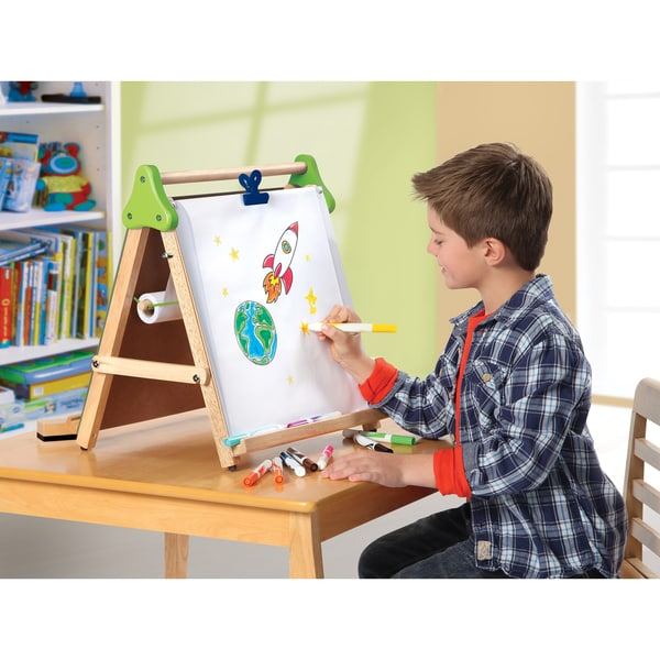 shop discovery kids wooden 3 in 1 tabletop easel free shipping today 8331121. Black Bedroom Furniture Sets. Home Design Ideas