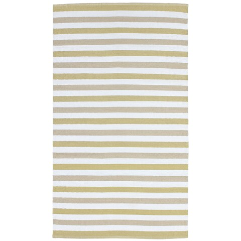 Striped Indoor/ Outdoor Reversible Patio Rug