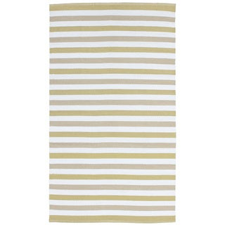 Striped Indoor/ Outdoor Reversible Patio Rug (2' x 3')