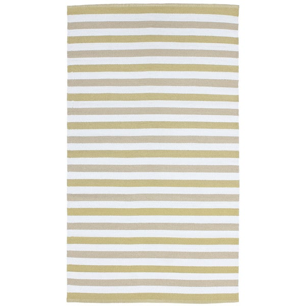 Striped Indoor/ Outdoor Reversible Patio Rug - 8' x 11'