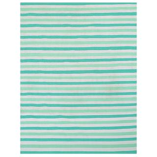 Green/ Beige Outdoor Reversible Patio Rug