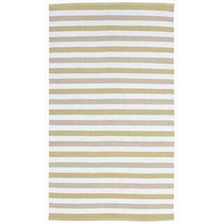 Striped Indoor/Outdoor Reversible Patio Rug (3'3 x 5'3)