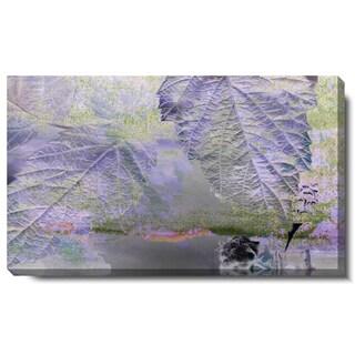 Studio Works Modern 'Purple Mist Leaves' Gallery Wrapped Canvas