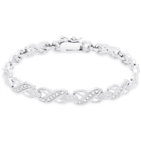 Finesque 1/2ct TDW Diamond Bracelet