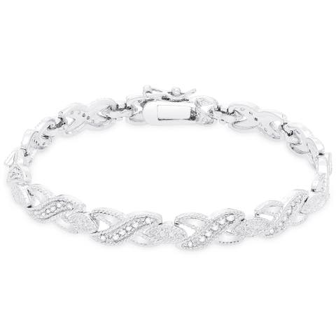 Finesque 1/2ct TDW Diamond Bracelet