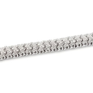 Finesque Silver or Gold Overlay 1ct TDW Diamond Bracelet (I-J, I2-I3)