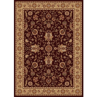 New Tradition Brown/ Ivory Area Rug (5'2 x 7'2)