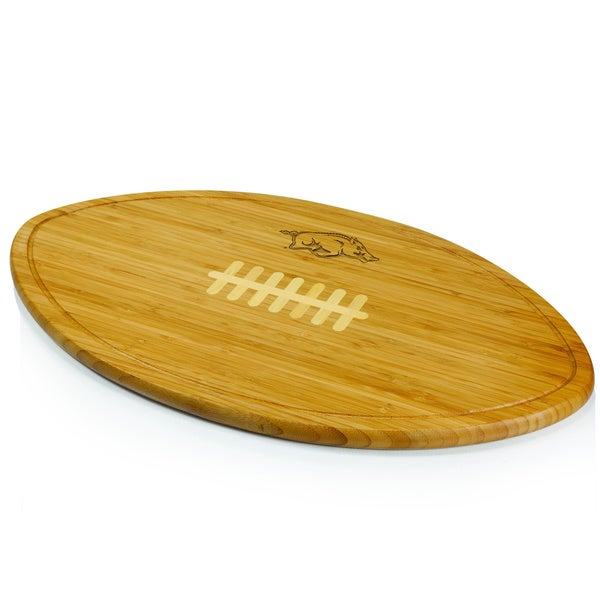 Picnic Time Kickoff University of Arkansas Razorbacks Engraved Natural Wood X- Large Cutting Board