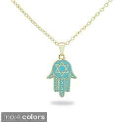 Junior Jewels Magen David Hamsa Pendant Necklace