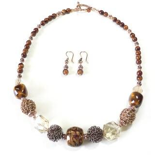 Palmtree Gems 'Barbery Coast' Necklace and Earring Set