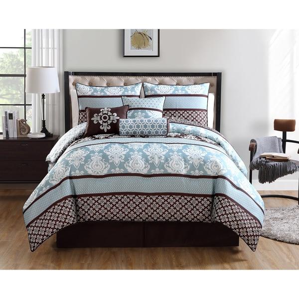 VCNY Beckham 7-piece Reversible Comforter Set