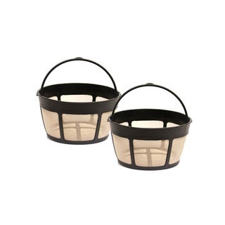 Goldtone 8-12 Cup Reusable Basket Style Coffee Filters with Screen Bottom (Pack of 2)