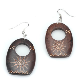 Handmade Eco Friendly Wood Earrings (India)
