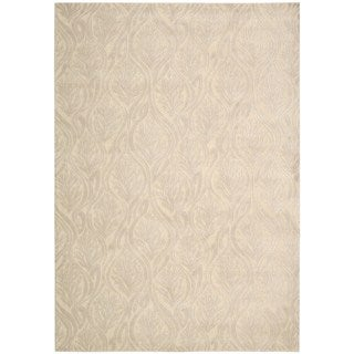 kathy ireland Hollywood Shimmer Aloha Paradise Cove Bisque Area Rug by Nourison (5'3 x 7'5)