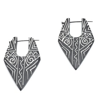 Eco-friendly Wood Earrings (India)