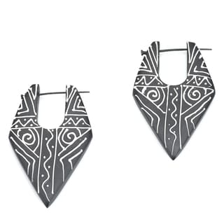 Handmade Eco-friendly Wood Earrings (India)