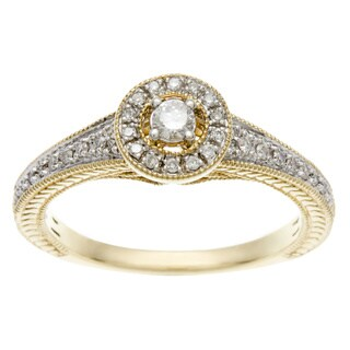 Sofia 10k Yellow Gold 1/4ct TDW Diamond Engagement Ring (I, I2)