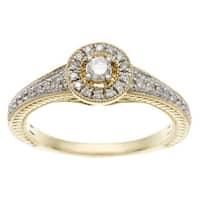Sofia 10k Yellow Gold 1/4ct TDW Diamond Engagement Ring