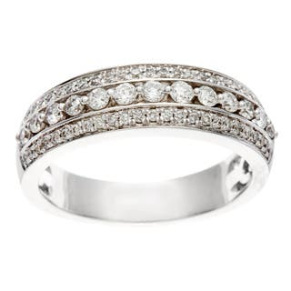 Sofia 14k White Gold 1/2ct TDW IGL Certified Diamond Anniversary Band|https://ak1.ostkcdn.com/images/products/8331661/8331661/14k-White-Gold-1-2ct-TDW-Certified-Diamond-Anniversary-Band-H-I-I1-I2-P15644067.jpg?impolicy=medium