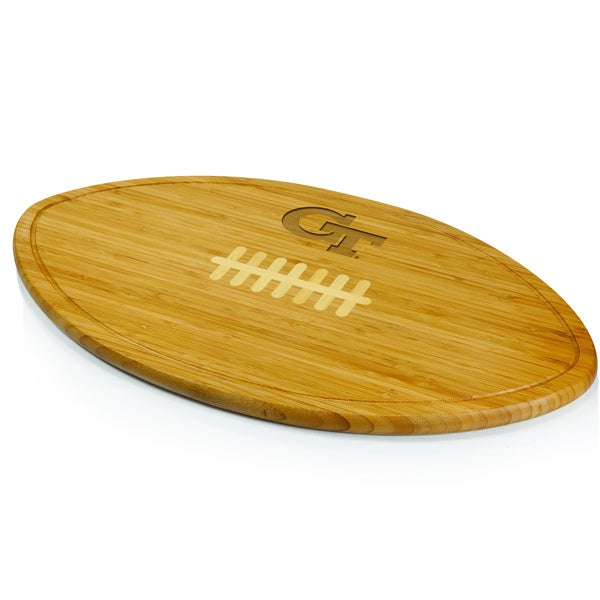 Picnic Time Georgia Tech Yellow Jackets Engraved Natural Wood Cutting Board