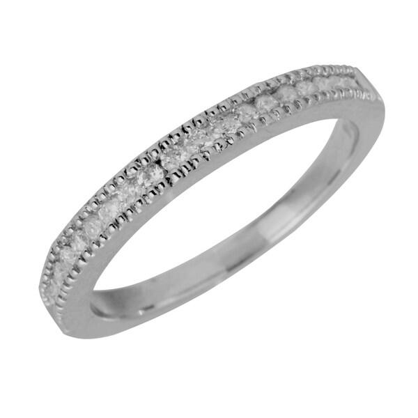 14k White Gold 1/4ct TDW Channel-set Diamond Wedding Ring (G-H, SI1-SI2)