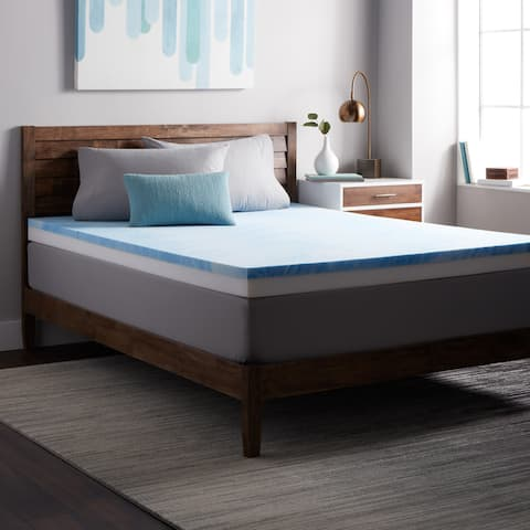 Select Luxury Combo 4-inch Gel Memory Restore-a-Mattress Medium Firm Topper