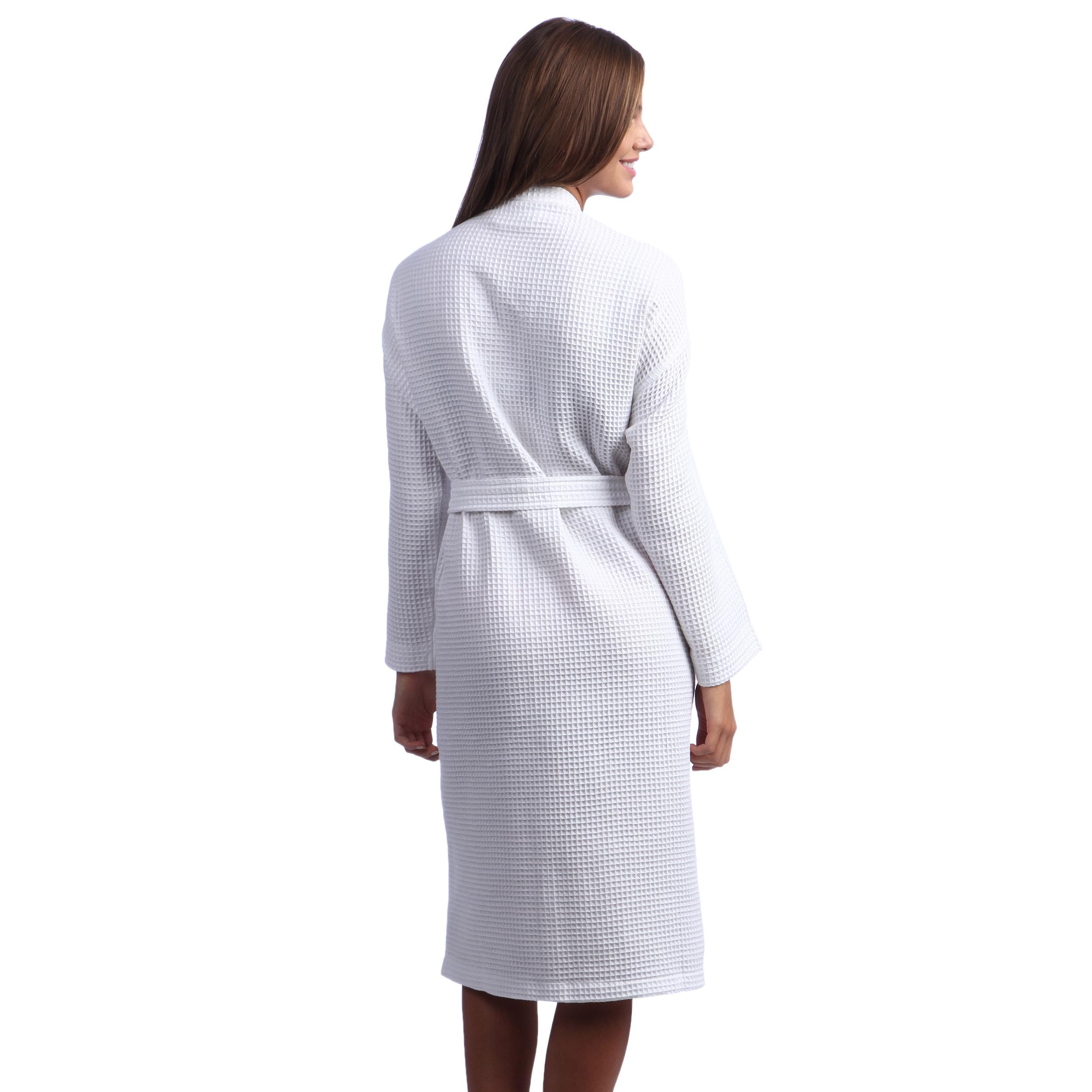 Bath Additional Name Monogram Premium Unisex Kimono Waffle Cotton Bathrobes White Home Furniture Diy Tohoku Morinagamilk Co Jp