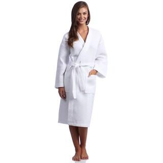 Classic Turkish Towel Waffle Weave Cotton Kimono Bath Robe