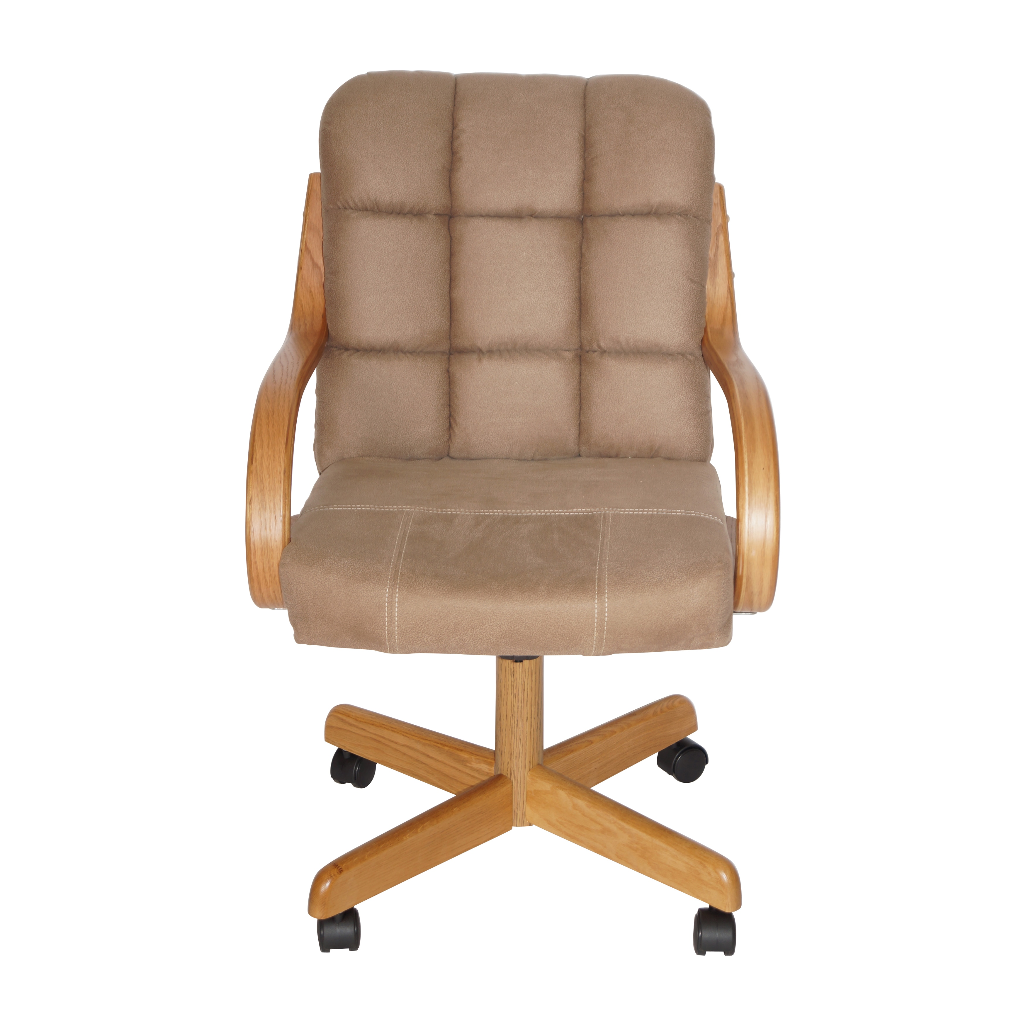 Surprising Brown Upholstered Casual Rolling Dining Chair 37Hx24Wx26D Short Links Chair Design For Home Short Linksinfo