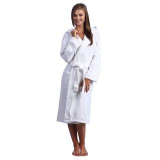 White Hooded Kimono Style Turkish Cotton Terry Bath Robe (3 options available)