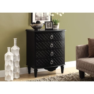 Black Diamond Veneer Contemporary Bombay Chest