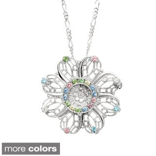 Detti Originals Filigree and Crystal Necklace/ Pin