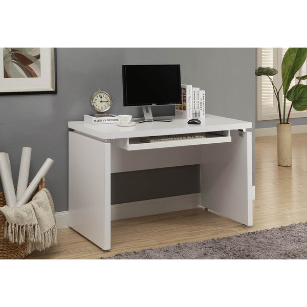 White 48 Inch Long Computer Desk Free Shipping Today