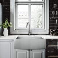 VIGO Camden Stainless Steel Kitchen Sink and Gramercy Faucet Set