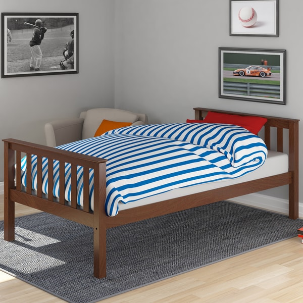 CorLiving BMB-475-S Monterey Brown Wood Single Bed