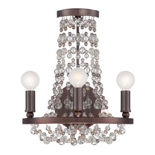 Crystorama Channing Collection 3-light Bronze/ Crystal Wall Sconce
