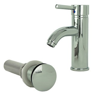 Fontaine Ultime Chrome European Single Post Bathroom Faucet and Drain Set