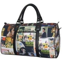 Elvis Presley Signature Product Elvis Lifetime Collage Overnight Bag Multicolored