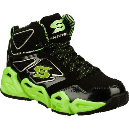 956f077c01d Shop Boys  Skechers Air-Mazing Kid Hoopz Bankshot Black Green - Free  Shipping Today - Overstock - 8332349