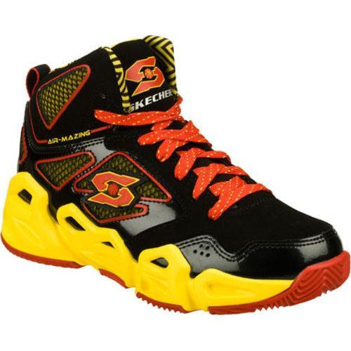 47b5a62f07f Shop Boys  Skechers Air-Mazing Kid Hoopz Bankshot Black Yellow - Free  Shipping Today - Overstock - 8332350