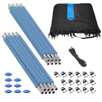Trampoline Enclosure Set for 10 ft. Round Frames with 4 or 8 W-shaped Legs - Blue