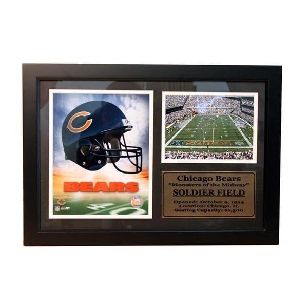 Chicago Bears 12 x 18 Photo Stat Frame