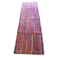 Celebration Jute Multi Chindi Braid Hand-woven Runner Rug (2'6 x 8')
