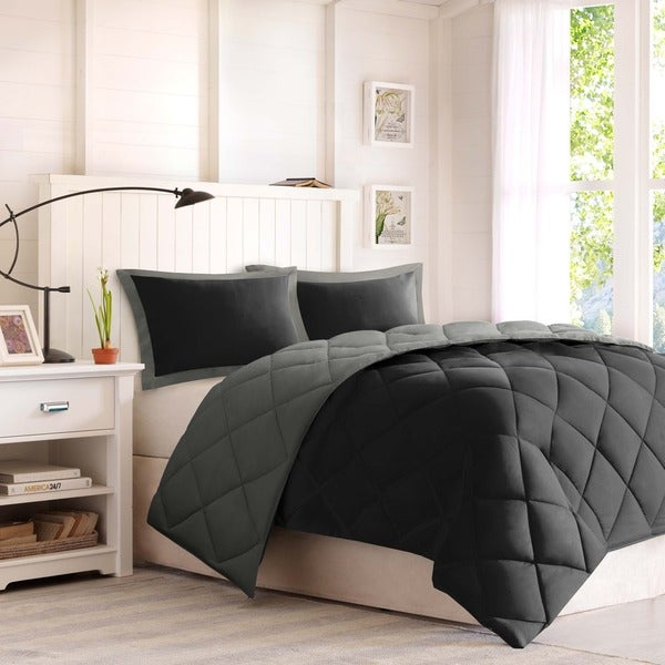 Madison Park Essentials Windsor Reversible Down Alternative Comforter Mini Set with 3M Stain Resistant Treatment