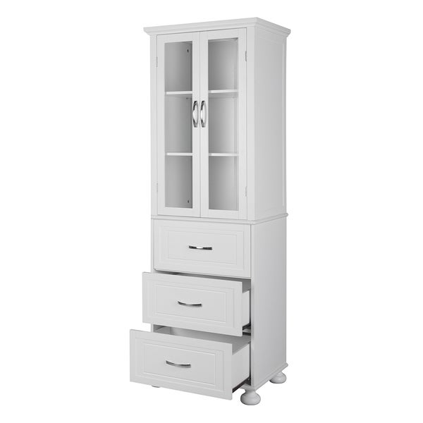 Concord White Linen Tower Free Shipping Today