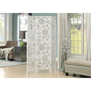 White Framed 3-Panel Folding Screen with Bubble Design|https://ak1.ostkcdn.com/images/products/8334570/P15646544.jpg?impolicy=medium