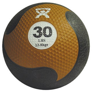 Cando Firm 30-pound 11-inch Diameter Medicine Ball - Orange/Black